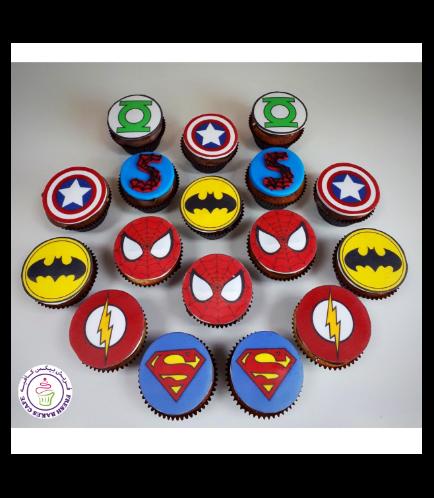 Superheroes Themed Cupcakes 10