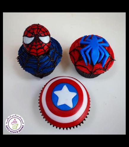 Superheroes Themed Cupcakes 11