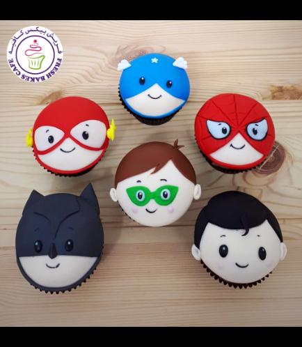 Superheroes Themed Cupcakes 13