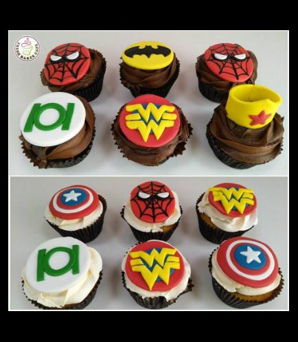 Superheroes Themed Cupcakes 03