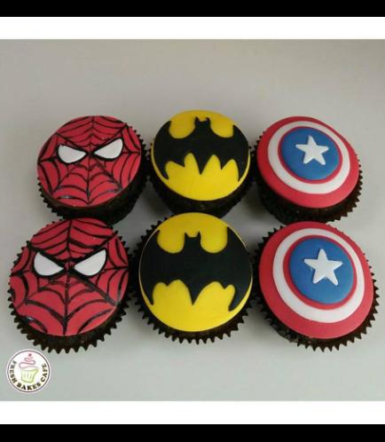 Superheroes Themed Cupcakes 04