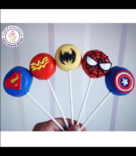 Superheroes Themed Donut Pops
