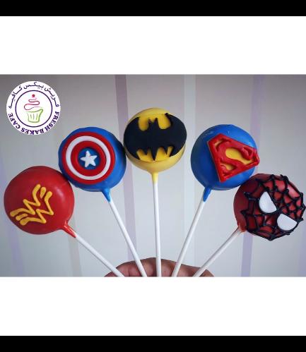 Superheroes Themed Donut Pops - Logos