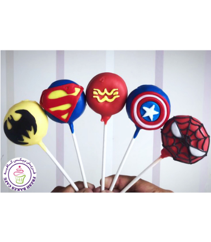 Superheroes Themed Donut Pops 01