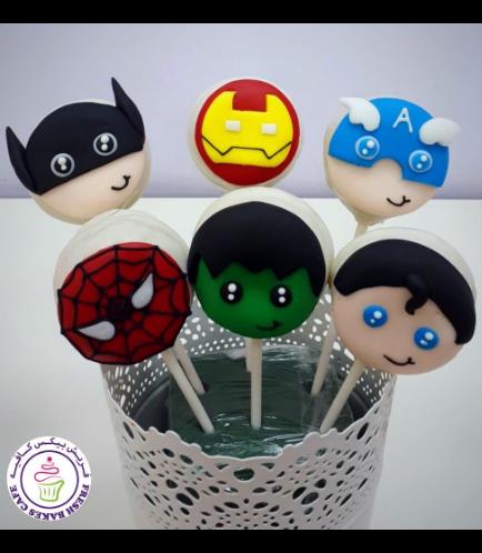 Superheroes Themed Donut Pops 02