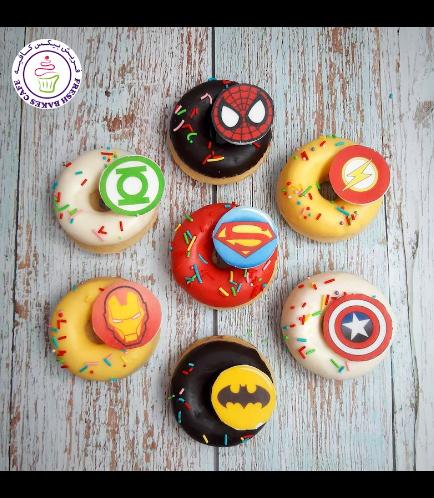 Superheroes Themed Donuts - Logos 02