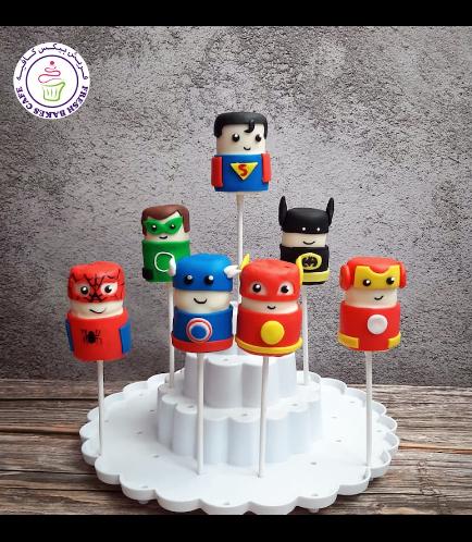 Superheroes Themed Marshmallow Pops