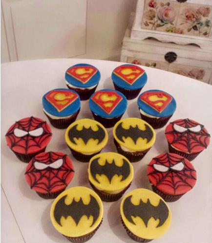 Superheroes Themed Cupcakes 01