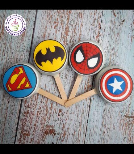 Superheroes Themed Popsicakes - Logos - Round 01