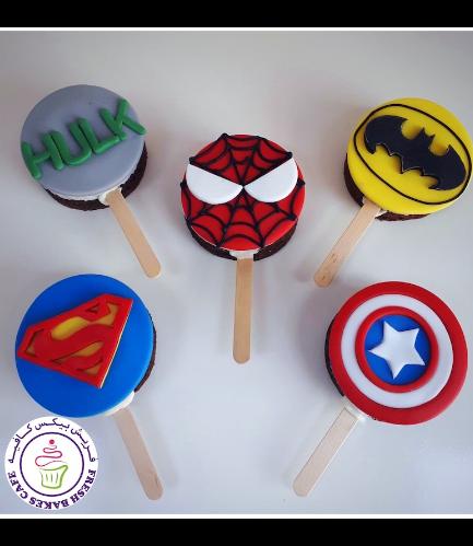 Superheroes Themed Popsicakes - Logos - Round 02