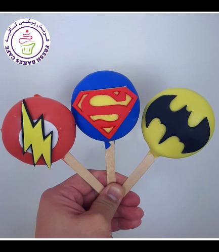 Superheroes Themed Popsicakes - Logos - Round 03