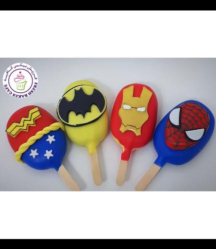 Superheroes Themed Popsicakes - Logos 02