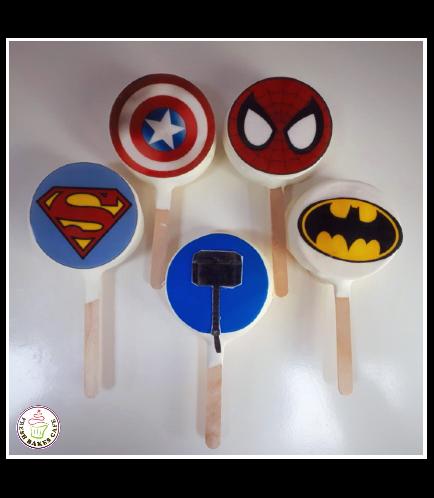 Superheroes Themed Popsicakes