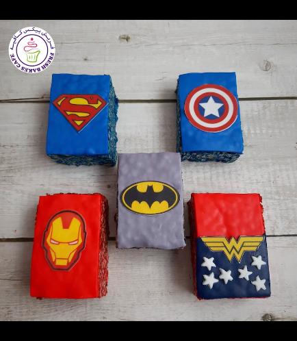 Superheroes Themed Krispie Treats