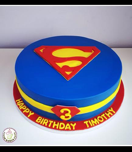 Superman Themed Cake 01