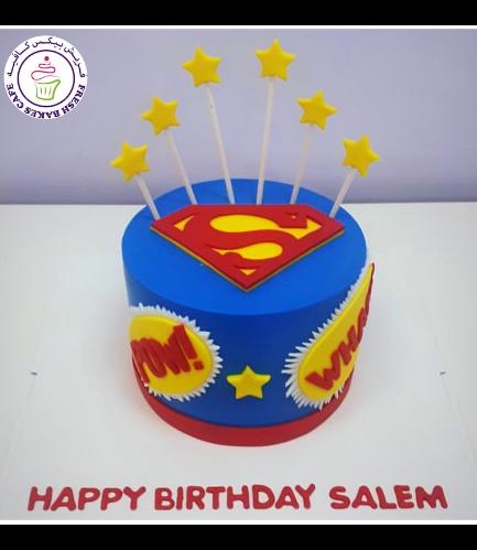 Superman Themed Cake - Logo 03