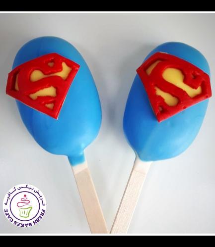 Superman Themed Popsicakes