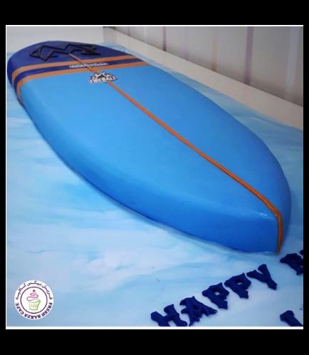 Surf Board Themed Cake 01b