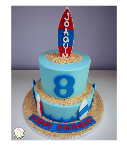 Surfing Themed Cake 4