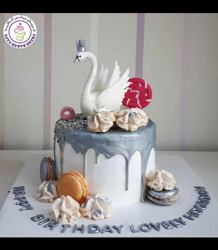 Swan Themed Cake - 3D Cake Topper