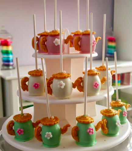Tea Pot Themed Cake Pops