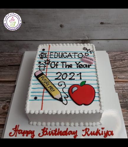 Cake - Teacher - Notepad - 3D Cake