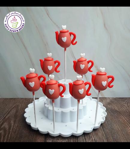 Teapot Themed Cake Pops - Red