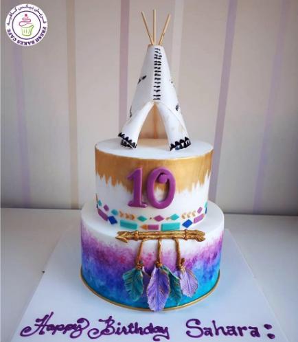 Teepee Themed Cake 01a