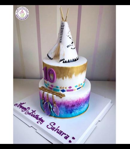Teepee Themed Cake 01b
