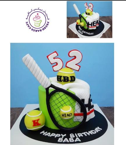 Tennis Themed Cake 02