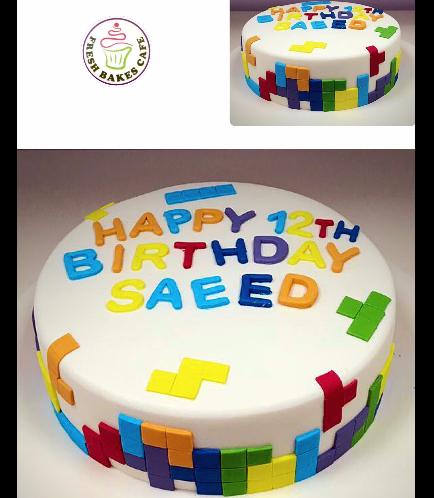 Tetris Themed Cake