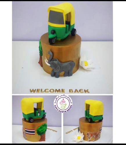 Thailand Themed Cake