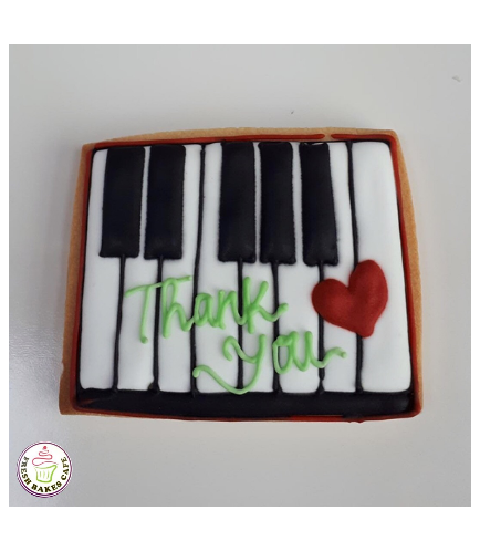 Thank You Themed Cookies for Music Teacher 1