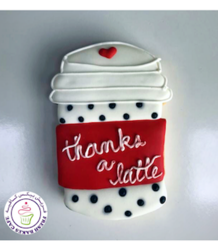 Thank You Themed Cookies - Coffee Cup 02