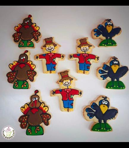Cookies - Turkey, Scarecrow, & Crow