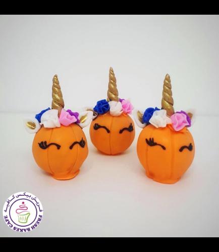 Cake Pops w/o Sticks - Pumpkin - Unicorn