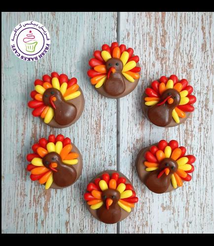 Thanksgiving Themed Chocolate Covered Oreos - Turkeys 01