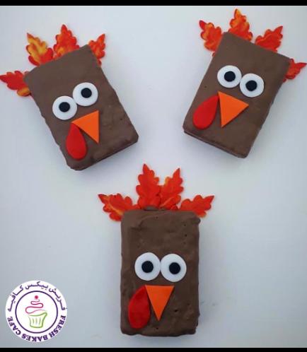 Thanksgiving Themed Krispie Treats - Turkey 01