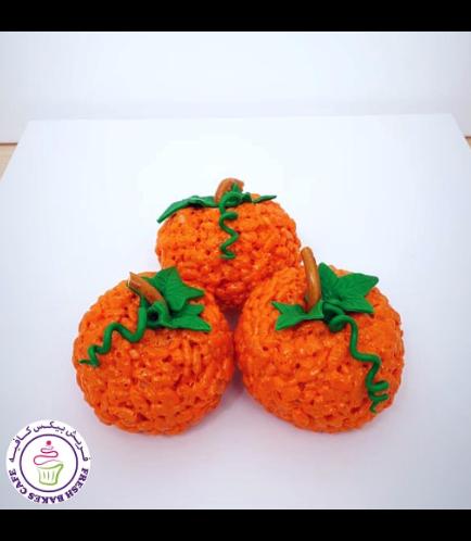 Thanksgiving Themed Krispie Treats - Pumpkin