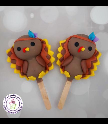 Thanksgiving Themed Popsicakes - Turkey 01