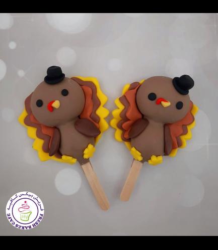 Thanksgiving Themed Popsicakes - Turkey 02
