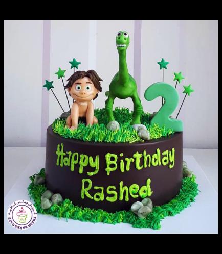 Dinosaur Themed Cake - The Good Dinosaur - 3D Cake Toppers 01a
