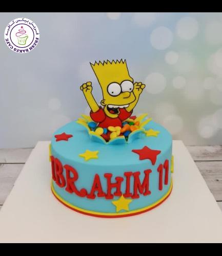 The Simpsons Themed Cake - Bart - 2D Fondant 02