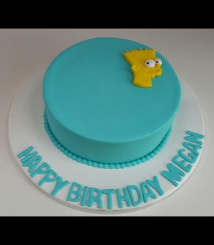 The Simpsons Themed Cake - Bart - 2D Fondant Head