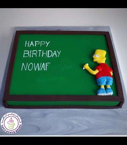 The Simpsons Themed Cake - Bart - 2D Fondant 01