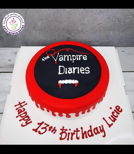 The Vampire Diaries Themed Cake