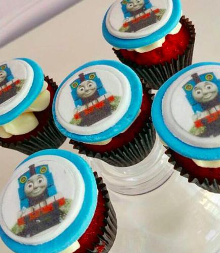 Thomas the Train Themed Cupcakes 01
