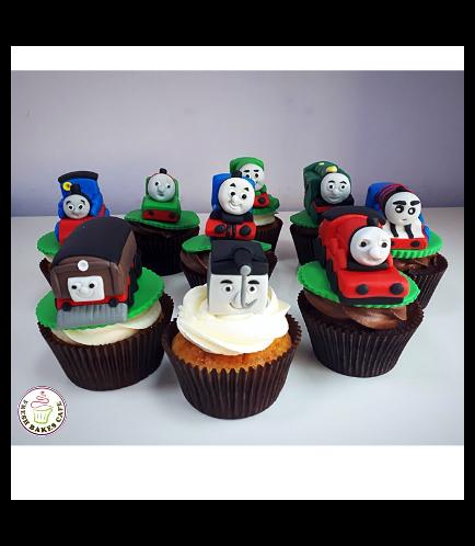 Thomas the Train Themed Cupcakes 03