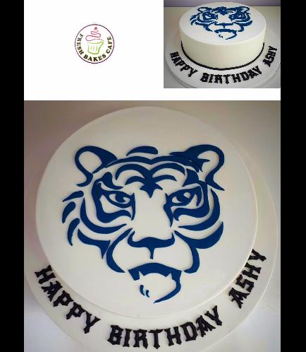 Tiger Themed Cake 02
