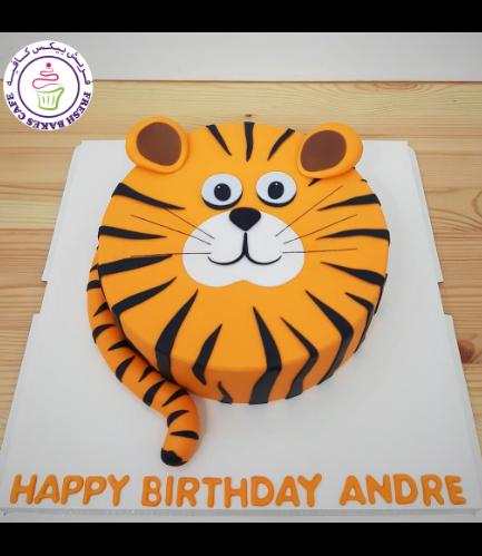 Tiger Themed Cake - Tiger Face - Fondant